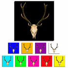 Stag Head Skull Single Canvas Wall Art Picture Print 10