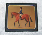 COASTERS - SET OF 6 - EQUESTRIAN COLLECTION - BAY HORSE - DRESSAGE - ASHDENE