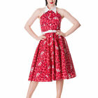 Hell Bunny Red Calamity Western Rockabilly 50s Dress Sizes 8/XS - 16/XL