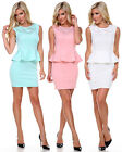 New Women Lady Sexy Bandage Dress Peplum Sleeveless Clubwear Evening Dress S-L