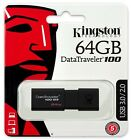 Kingston 16GB 32GB 64GB DataTraveler 100 G3 USB 3.0 Flash Pen Drive lot DT100G3