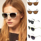 Men's Women's Cat Eye Sunglasses Metal Frame Round Multi-color Eyewear FKS