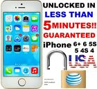Factory Unlock Service Code Express Att AT T iPhone 4S 5 5C 5S 6 6S+ CLEAN IMEI