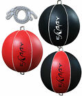 Eskaay Leather Double End Ball Dodge Floor to Ceiling Rope  Speed Bag Set Punch