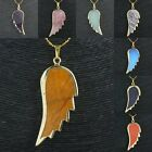 Animal's Wing Charm Pendant Bead Fit Necklace Amethyst/Opal/Blue Sand Gemstone