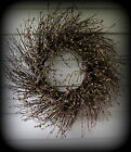 Sage Colored Pip Berry Wreath 22 Twig Base New Primitive