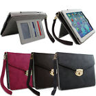 NEW Woven Briefcase Style Fabric Folio Cover for iPad 2 3 4 Strap Stand Case