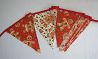Hand Made 10ft /13 Flag Christmas Fabric Bunting Garland Gingerbread man
