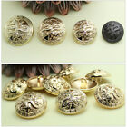 12PCS Metal Dragon Carving Round Shank Overcoat Buttons 18mm 20mm 23mm 25mm