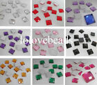 10MM Square Flatback Rhinestone Acrylic Diamond Scrapbook Craft DIY Decoration