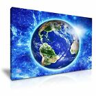 NASA Blue Planet Earth Space Canvas Wall Art Picture Print ~ More Size