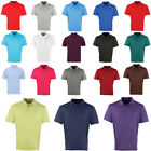 Mens Premier Stylish Knitted Collar Button Placket Modern Polo Tshirt Size S-3XL