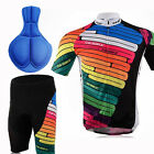 Cycling Bike Short Sleeve Clothing Set Bicycle Men Wear Suit Jersey+Shorts M-XXL