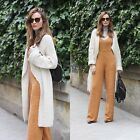 ZARA NEW COLLECTION 2015. ECRU LONG KNITTED COAT JACKET CARDIGAN. BLOGGERS.