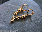 14ct gold filled Cubic Zirconia DOLPHIN hoop EARRINGS 1pair sparkling