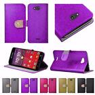 For Kyocera Hydro Wave C6740 Shiny Leather Bling Flip Wallet Cover Case