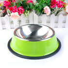 Color Stainless Steel  No Slip Dog Puppy Pet Food  Water Bowl Dish  XS XXL