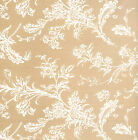 White Floral Print on Kraft Tissue Paper ~ 10 Large Sheets