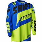 MENS GUYS SHIFT RACING MX ATV RIDING ASSAULT YELLOW BLUE JERSEY SHIRT OFFROAD
