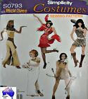 Free Post SIMPLICITY SEWING PATTERN Ladies Cleo Flapper Toga Costume 0793 1770