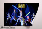 STAR WARS CLONE WARS MOVIE GIANT WALL ART POSTER A0 A1 A2 A3
