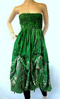 Light Greens DRAW STRING Dress WENCH BELLY Festival SKIRT HIPPY Steampunk LADIES