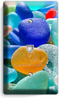 COLORFUL SEA BEACH GLASS SUMMER FUN LIGHT SWITCH WALL PLATE COVER OUTLET DECOR