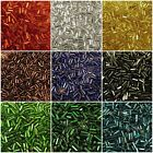 BUGLE Seed Beads 5mm Square Hole Preciosa Czech Glass Silver Lined Straight 20g