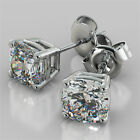 Cushion Cut Stud Earrings Available in 14K, 18K and Platinum