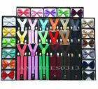 New SUSPENDER And BOW TIE Matching Set Tuxedo Classic Fashion Set