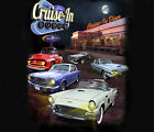 Ford Mustang Classic Cars Cruise In Diner BLACK Adult T-shirt