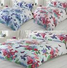 Birds Of Paradise Exotic Floral Flowers Butterfly Duvet Cover Quilt Bedding Set