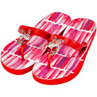 MISS TRISH LADIES DESIGNER FLIP FLOPS - RED/RED - FISH UK SIZES 3 - 8 RRP £40