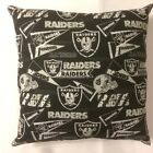 INCREDIBLE 15 x 15 NFL FOOTBALL OAKLAND RAIDERS COMPLETE PILLOWS - GREAT GIFTS