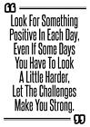 Motivational inspirational quote positive life poster picture print wall art 251