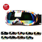XLINE 8pp008 Womens Goggles SKI SNOWBOARD Snow Mirrored UV Double Mens Medium