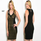 D87 New Womens Black Gold Formal Wedding Evening Cocktail Race Party Plus Dress