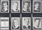 AFRICAN TOB. - NZ & AUS RUGBY PLAYERS 1937 M80 (NUMBERS 51-80) SELECT YOUR CARD.