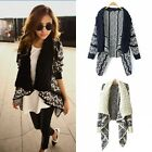 1pc Women Loose Knitted Sweater Floral Long Sleeve Cardigan Outwear Outcoat FKS