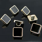 Black Square Shank Button Metal For Sewing Or Embellishments 12 Pcs 9mm