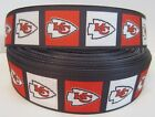 "GROSGRAIN KANSAS CITY CHIEFS FOOTBALL 1"" INCH RIBBON FOR HAIR BOWS DIY CRAFTS $5.59 USD on eBay"