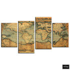 Old World Atlas   Maps Flags BOX FRAMED CANVAS ART Picture HDR 280gsm