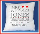 Personalised Mr & Mrs Cushion Cover Wedding, Anniversary Gift