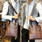 Men's Vintage Leather Hand bag Briefcase Laptop Shoulder Bag business Bag Tote