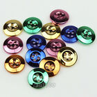 12pcs Resin Multicolor 4 Holes Round Craft Sewing Suit Buttons 15mm