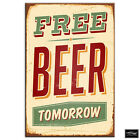 Shabby Chic Beer Sign   Vintage BOX FRAMED CANVAS ART Picture HDR 280gsm