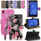 For Sony Xperia Z3 D6708 Pu Leather Flip Wallet Card Money Holder Slots Case New