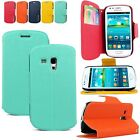 For Samsung Galaxy S3 I8190 Mini Pu Leather Wallet Card Slots Folding Stand Case