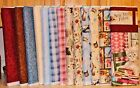 Krafty Kittens Cats Sewing Notions Plaids Solids  SOLD SEPARATELY bty