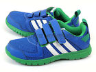 Adidas STA Fluid 3 CF K Blue/White/Signal Green Kids Velcro Running Shoes B23935